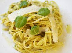 Spaghetti with Pistachio Pistou.