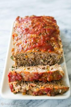 Classic Meatloaf by simplyrecipes: Traditional meatloaf recipe with the delicious twist of using Italian pork sausage in addition to ground beef. Also includes onion, celery, garlic, egg, parsley, and bread crumbs.#Meatloaf