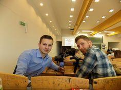 W pracy...Paweł i Artur.