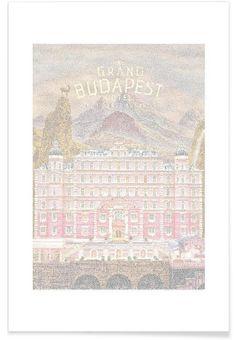 Grand Budapest Hotel en Affiche premium par Robotic Ewe | JUNIQE