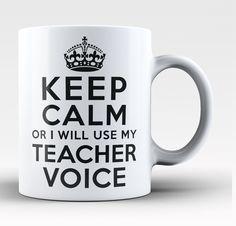 Keep Calm Teacher Voice - Mug
