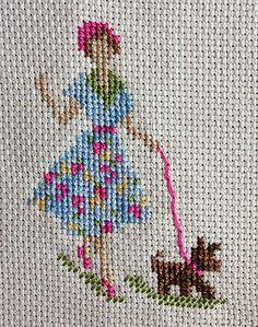 Point croix // Cross stitch Needlework, Cross Stitch, Embroidery, Vintage, Ideas, Cross Stitch Pictures, Cross Stitch Embroidery, Small Cross Stitch, Cross Stitch Samplers