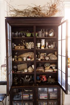 {cabinet of curiosities} John Derian at home in NYC via The Selby
