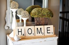 Large Scrabble Tiles Home Decor by RusticRefined on Etsy