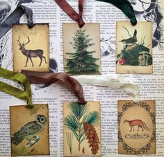 Winter Woodland-Vintage Style Gift Tags