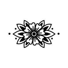 Finger Tattoos, Body Art Tattoos, New Tattoos, Sleeve Tattoos, Traditional Black Tattoo, Traditional Tattoo Flowers, Traditional Tattoo Stencils, 4 Tattoo, Tattoo Drawings