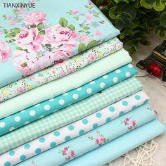 8-Piece Victoria Flower-Print Cotton Fabric Set