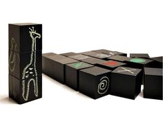 Chalkboard painted blocks/cubes.  Could make with wooden blocks from a craft store! :)