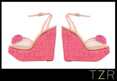 Of course I want a pair of pink fringe wedges...who wouldn't?  Charlotte Olympia Gigi Wedge Sandals | The Zoe Report