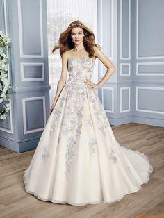 abiti da sposa da sposa in tulle applique