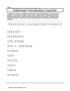 Halloween Cryptolist Puzzle