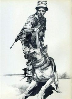 Military Working Dogs, Military Looks, Military Art, Military History, German Shepherd Tattoo, Army Day, Army Wallpaper, Tactical Survival, Service Dogs