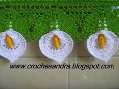 CROCHETANDO: copo de leite. ♪ ♪ ... #inspiration_crochet #diy GB #afs collection