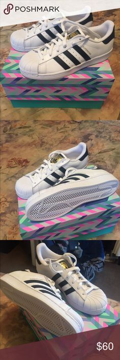 Adidas Superstar shoes Never worn brand new (size 7) Adidas Superstars, original box not available Adidas Shoes