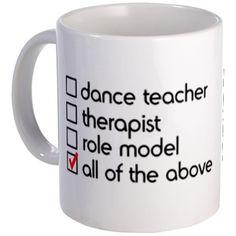 Dance teacher cup