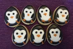 One dozen mini delicious penguin sugar cookies by jaynessugarshack, $9.00