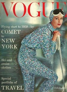 Vogue-January 1959 - The month I was born~