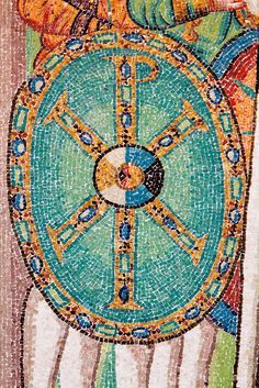 Chi-Rho monogram by Nick in exsilio, via Flickr [Firmament with centered sun, equinoxes and solstices]