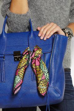 Anna Coroneo Pineapple Print Silk Scarf from ShoppingTheTrend