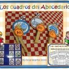 """""""Los Cuadros del abecedario"""" es una estación de trabajo para el reconocimiento de las letras y sus sonidos en español."""