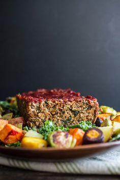 Lentil Rice Veggie Loaf | edibleperspective.com #thanksgiving