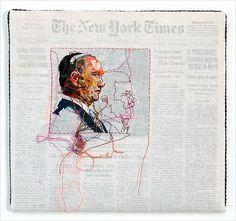 Embroidery That Mummifies Print - Lauren DiCioccio - Mixed Media