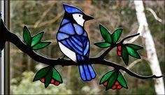 Resultado de imagen de stained glass birds on branch pattern
