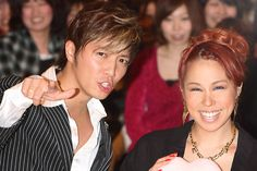 "Narimiya Hiroki (成宮 寛貴) with AI at a fan meeting for the 2009 movie ""Lala Pipo"" (ララピポ)"