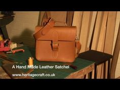 Hand Made Leather Satchel There is also one for a ladies handbag that is nice. I love how he confesses to hating every moment of making the two purse handles.