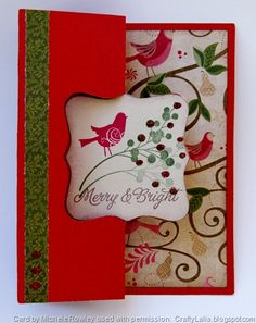 Crafty Lalia: Pear and Partridge Artiste Swing Card with Merry & Bright CTMH Stamp set outside #Artiste #video