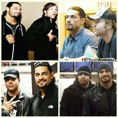 These gorgeous men. I just love Dean Ambrose and Roman Reigns