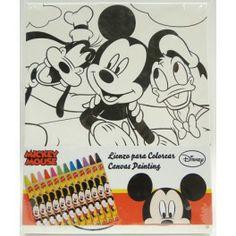 Lienzo de Mickey para pintar www.elchollofallero.com