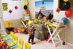 Fantastic Construction Themed Birthday Party