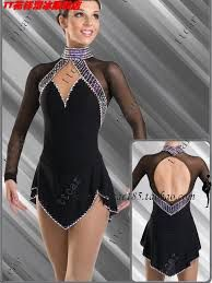 Image result for figure skating dress black and white