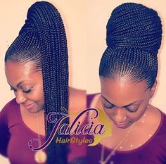 Top Creative Cornrow Hairstyles The Best Ones Of 2018 You Should Try This Year is part of braids - Imagine if we lived in a world where we didn't have to style our hair every day, we had a hairstyle we loved and it lasted for months o Box Braids Hairstyles, Braided Ponytail Hairstyles, My Hairstyle, African Hairstyles, Girl Hairstyles, Cornrow Ponytail, Carrot Hairstyles, Braided Ponytail Black Hair, Ghana Braids Updo