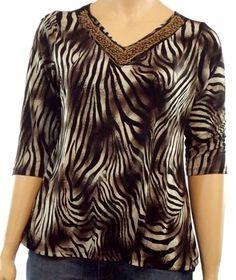 17e212530eca Career Animal Print Plus Size Tops & Blouses for Women   eBay. Jaclyn SmithPlusstørrelse  ...