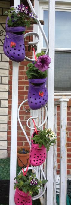 Recycled crocs or rain boots for your garden by shannon