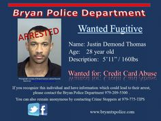 Arrested!  Added Evading and Resisting to his charges