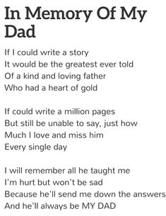 Why did your heart of gold have to stop beating??  I miss you so much, love you Dad!!!