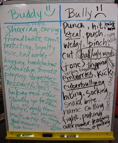 "This would be a great activity to do before starting a lesson on bullying. It would help students realize what bullying is and will have them think about how something ""small"" could actually be rude or making someone upset. Elementary Counseling, School Counselor, Elementary Schools, Group Counseling, Classroom Behavior, Classroom Management, Classroom Rules, Anger Management, Respect Activities"
