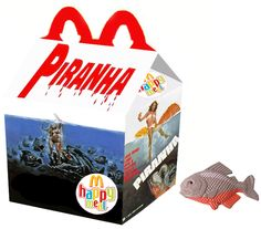 Pink Slime Is the Last Thing You Need to Worry About in These 'What If' McDonald's Horror Happy Meals Horror Movie Characters, Best Horror Movies, Scary Movies, Ghost Movies, Horror Books, Happy Meal Box, Horror Photos, Halloween Toys, Happy Halloween