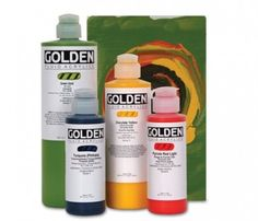 Golden Fluid Acrylics - My favorite acrylics. Tubes work well but for me, Golden fluids are terrific. Wonderful intensity plus they mix beautifully. Dot Painting, Texture Painting, Discount Art Supplies, Red Light, Titanium White, Diy Artwork, Fluid Acrylics, Acrylic Resin, Color Theory