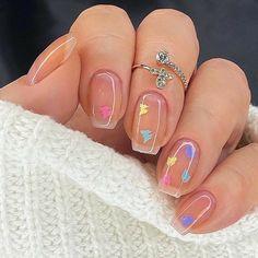 Summer Acrylic Nails, Best Acrylic Nails, Acrylic Nail Designs, Cute Nail Art Designs, Acrylic Nail Shapes, Short Nail Designs, Aycrlic Nails, Swag Nails, Hair And Nails