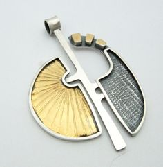 Sterling silver, 24kt gold keumboo. Pendant 2017 Lesley Aine Mckeown
