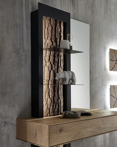 """Keitel-Gloss GmbH 🇦🇹 on Instagram: """"Auch Garderoben mit Applikation Baumrinde gibt's bei uns😊  #massivholz #nature #rinde #wood #exclusive #garderobe #vorraum #wohnen…"""" Modern, Germany, Shelves, How To Make, Home Decor, Instagram, Light Oak, Types Of Wood, Homes"""