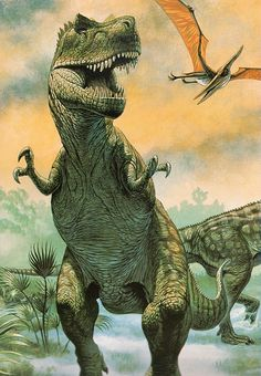 Henderson : Tyrannosaurus | Love in the Time of Chasmosaurs: Vintage Dinosaur Art: De Oerwereld van de Dinosauriërs - Part 1