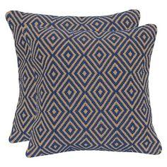 Diamond Jute & Cotton Throw Pillow with Canvas Back - Flame - 20x20 : Target