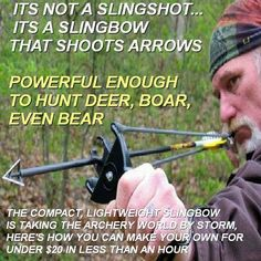 Compact, lightweight and silent, the slingbow is the perfect survival weapon. It can be used for hunting, home and self defense and sport, as there are slingbow clubs in almost every city in America already! Here's how you can make yours for under $20 http://conspiracy-watch.org/how-to-turn-wristrocket-singshot-into-deadly-slingbow/