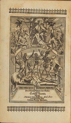Schau-Platz des Todes oder Todten-Tanz in Kupffern und Versen vorgestellet  Autor: Salomon van Rusting, 1736