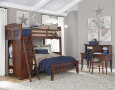 NE Kids Walnut Street Loft Bedroom Collection | Wayfair